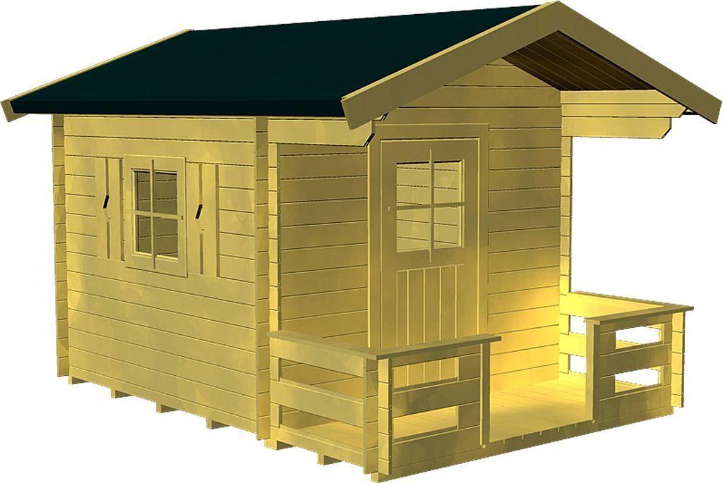 gro es kinderspielhaus smilla mit terrasse gieco holz. Black Bedroom Furniture Sets. Home Design Ideas