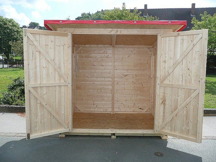 Doppeltür Holz verkaufshütte florian mit doppeltüren gieco holz