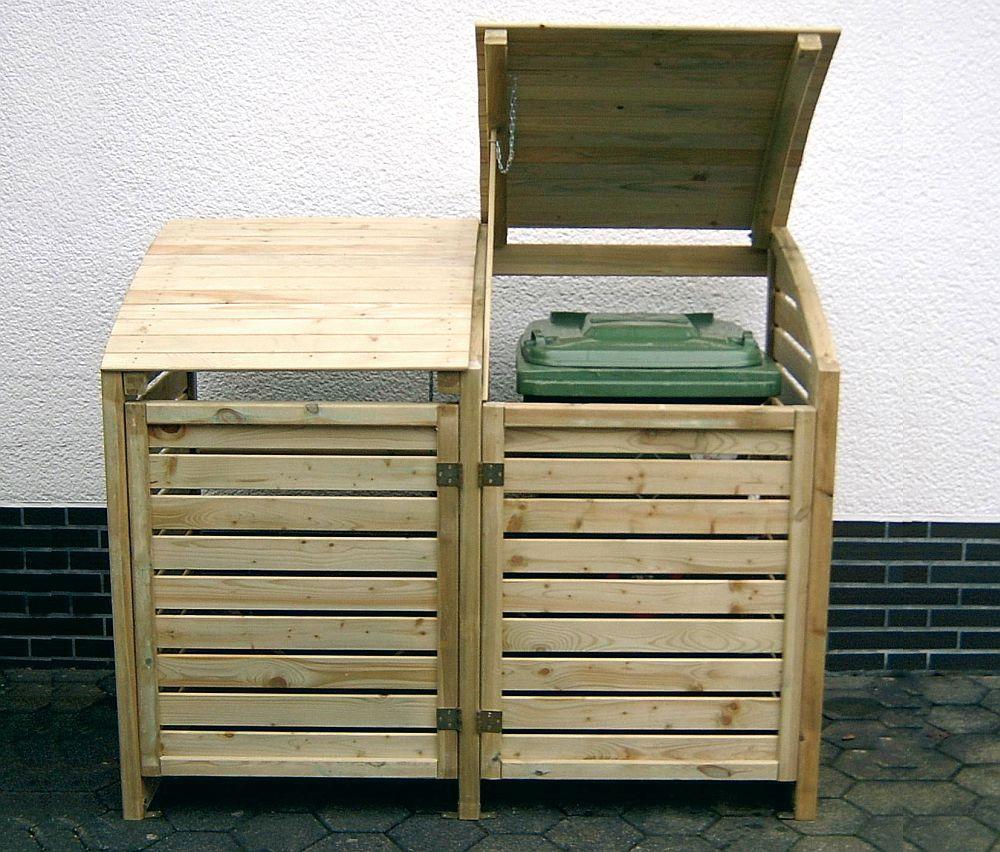 mülltonnenbox für 2 mülltonnen | gieco holz